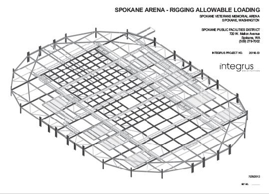 roof schematics spokane arena rigging information  spokane arena rigging information